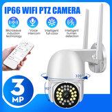 Bakeey 1080P 3MP HD Câmera IP Smart WiFi Visão noturna sem fio Chamada de voz bidirecional Câmera inteligente Câmera de segurança