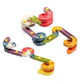 Rich Color Baby Bath Duck Παίξτε Water Track Slideway Παιχνίδι DIY Assembly Puzzle Early Education Set Toy for Kids Gift