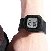 PedômetroEletrônicoSmartWatch3DPedometer Pulseira Silicone Tape Sports Watch