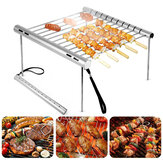 Outdoor Portable Folding Stainless Steel Barbecue Grill Camping Picnic BBQ Rack