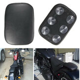 Pillion Pad Seat 6 Suction Cup Black For Harley Dyna Sportster Softail Touring
