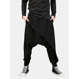 Hombres Casual Drape Drop Crotch Harem Hip Hop Pantalón Baggy Cross-Pants