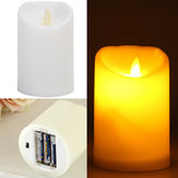 Romantik Elektronik LED Alevsiz Titreşimli Simülasyon Mum Gecesi Işığı 11.5 * 7.5cm