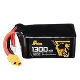 Auline 22.2v 1300mah 120C 6S XT60 Plug Lipo Battery for 5 Inch  FPV Racing Drone