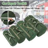 Draagbaar canvas zware gereedschapstaszakken Carry Mechanic Repair Kit Round Bag