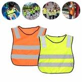 Alta visibilità dell'abbigliamento del riflettore riflettente della maglia di giallo di sicurezza dei bambini
