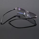 Unisex skládací bezrámové brilianty s oříznutými antimonovými světle modrými brýlemi na čtení Presbyopické brýle