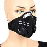 ZANLURE Masque de sport anti-poussière avec valves respiratoires Filtre à charbon actif Masque de vélo Masque anti-pollution