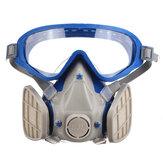 顔面保護カバー防沫微粒子マスク防塵防塵ゴーグルケミカルレスピレーター&ゴーグルフェイスレスピレーター農薬防塵ファイアエスケープ呼吸器具