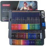 NYONI 24/36/100 Cores Conjunto de Lápis Aquarela Desenho Lápis Crayons Colores Lápis Arte Esboço Papelaria Escola Material para Alunos