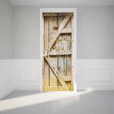 3D Art Door Lodówka Naklejki ścienne Naklejka Samoprzylepne dekoracje ścienne Home Decor