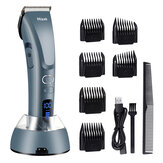 Hair Clippers for Men,Hizek Beard Trimmer Professional Cordless Hair Trimmer with 3 Adjustable Speeds,LED Display,USB Charging Stand and 6 Attachment Guide Combs,for Family Use