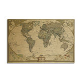 World Map poster Kraft Paper Wall Poster DIY Wall Art 28 inch X 18 inch