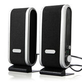 2Pcs/1Set 120W Portable USB Multimedia Stereo Speakers System for PC Desktop Computer