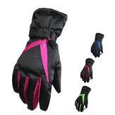 Las mujeres guantes de esquí gruesos invierno de guantes windproof impermeable suben guantes del deporte de la nieve