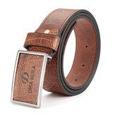 Mens PU liga de couro agulha fivela cinto cintos casual lazer pin fivela cintura pulseira