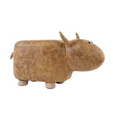 Solid Wood Animal Shape Ottomans Footstools Sofa Padded Cushion Rest Seat Footstool Pouffe Stool