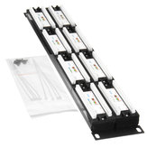 110 Type 48-Port Cat6 Unshielded Wallmount or Rackmount Patch Panel Cat6 Patch Panel