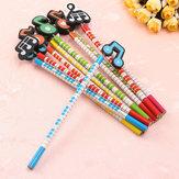 12 lápices de madera de la historieta de la nota musical de las PC empaquetan los regalos de los efectos de escritorio para los niños
