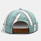 メンズの家主の帽子の夏のストリートトレンドのスカルキャップヴィンテージイノセントメタルスタンダードつばなし帽子