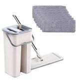 4/7/10 Pcs Pel Lantai Set Dan Ember Pembersih Lantai Pel Microfiber Untuk Rumah Dapur Lantai Kamar Mandi