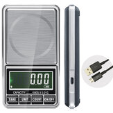 600g 0.01g Electronic LCD Jewelry Escala Digital Pocket Weight Mini Precision Balance USB Interface