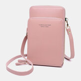 Women 5Card Slots Phone Bag Solid Crossbody Bags