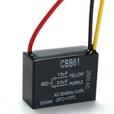 CBB61 1.5uF+2.5uF 3 WIRE 250VAC Ceiling Fan Capacitor 3 Wires