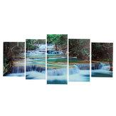 Grande Emoldurado Cópias Da Lona Floresta Cachoeira Pintura Casa Pendurado Decorações De Parede