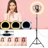 LED Ring Light Dimbare Selfie Lamp Statief Stand Telefoonhouder USB Powered voor Vlog YouTube Tiktok VK Makeup Video