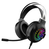 Bakeey M10 Gaming Headset 50mm Drivers 7.1 Surround Sound Noise Reduction RGB Luminous Head-Mounted USB/ 3.5mm Gaming Headphones with Mic