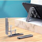 Bakeey tragbare Faltung versteckt Typ Lazy Phone Desktop-Halter Aluminiumlegierung Stand Back Stick Handy-Halter für iPhone POCO M3 Alle Smartphones