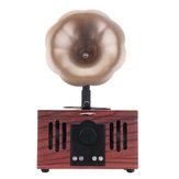 Forma de gramofone portátil sem fio Bluetooth suporte de alto-falante TF cartão AUX-disco