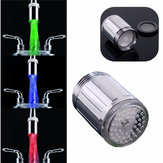 ABS Material LED Faucet Light Temperature Sensor 3 Color No Battery Water Tap Faucet Glow Shower