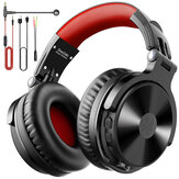 Oneodio Pro-M Gaming Headphones Wireless bluetooth V5.0 Earphones 50mm Drivers HIFI Stereo Bass Noise Reduction 1500mAh Foldable 3.5mm Wired Headset with Mic
