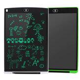 12-calowy 2-pakowy tablet LCD do pisania 3 w 1 podkładka pod mysz linijka tablica do rysowania monochromatyczne podkładki do pisma ręcznego dla dzieci biały + zielony