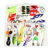 106PCS Fishing Lure Bait Kit High-carbon Steel Hard & Soft Bait Set With Storage Box