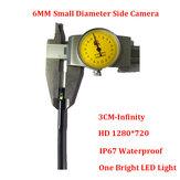Bakeey 6 MM Borescope Camera Dual Inspectie Camera 720P HD IP67 1M Snake Buigbare Lijn USB Borescope met Zijcamera
