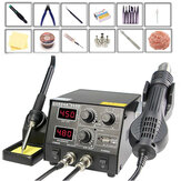 GORDAK 868D Intelligent 3 in 1 Anti-Static Hot Air Dual رقمي Soldering USB شحن Mobile هاتف