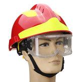 NEWセーフティレスキューヘルメット消防士防護メガネセーフティプロテクター職場安全防火53CM-63CM