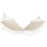 200*100CM Hand-woven Tassel Hammock Portable Outdoor Tent Hanging Swing Hiking Chair for Camping