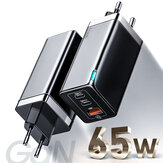 [GaN Tech] Baseus 65W USB C充電器3ポートGaN壁充電器2 * Type-C PD充電器+ Samsung用USB充電器S10 iPhone用11 11237237 Max Notebook MacBook Tablet HUAWEI P30Pro Xiaomi Redmi Nintendo Switch用