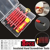 8PCS Electronic Insulated Hand Screwdriver Tools Accessory Set DIY Magnetic Tips
