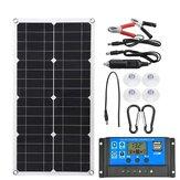 Kit de painel solar 100 W 18 V com controlador solar RV com sistema fotovoltaico de viagem