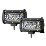 2 SZTUK 5-calowy LED Work Light Bar Combo Beam Driving Fog Lamp 72 W 6000LM dla Jeep Offroad ATV Truck