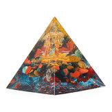 Orgonit Piramit Enerji Çakra Çarpan Reiki Orgone Peridot Ve Gökkuşağı Florit Şifa Süslemeleri