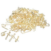100pcs Gold/Silver Curtain Hooks Metal 28mm for Pencil Pleat Tapes Curtains Hook