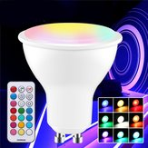 GU10 GU5.3 3W 5730 SMD RGB + White Dimmable LED ضوء Bulb with التحكم عن بعد مراقبة AC85-265V