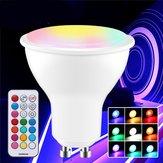 GU10 GU5.3 3W 5730 SMD RGB + Branco Dimmable LED Lâmpada com Controle Remoto AC85-265V