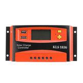 30A 12V / 24V PWM Solar Panel Batería Controlador de carga del regulador LCD Dual USB